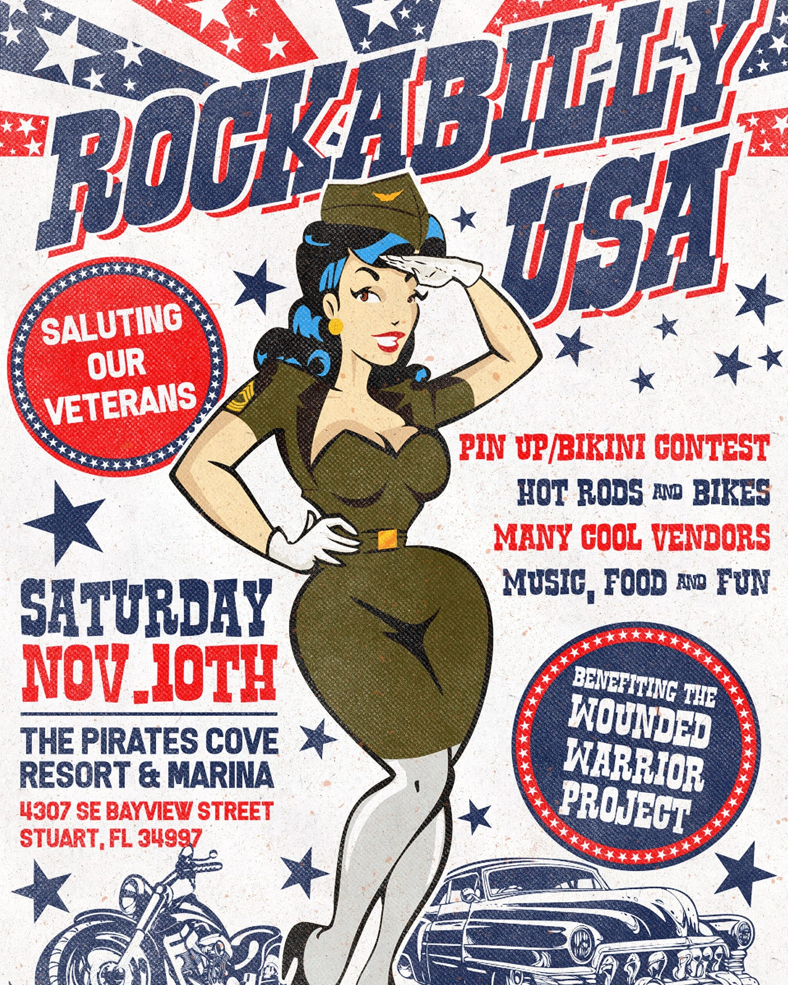Rockabilly USA Wounded Warrior – Stuart, FL